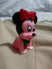 New listing Vintage Baby Squeaky Toy Minnie Mouse Walt Disney Company Red Bow Green Bib pink