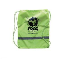 Frog Cycling Reflective Rucksack Draw Sting Bag Green Light Weight