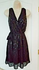 EXPRESS Sexy Black Sequin Dress size XS