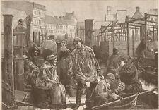 Preserving Tanks. Fish Market. Berlin Prussia. Harper's Weekly 1874