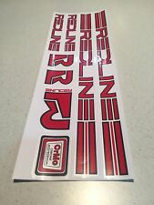 Redline 1980s Plain Decals Sticker Set Suit Your Old School BMX White Outline