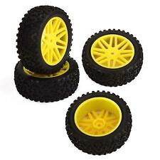 4pcs Wheel Rim & Rubber Tyre Tires Front & Rear for RC 1/10 Off-Road Car Buggy Y