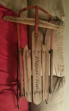 Vintage Industrial Runner Sled Happi Time Wall  Rustic Christmas Barn Decor