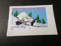FRANCE 2005, timbre AUTOADHESIF 71 MEILLEURS VOEUX MANCHOTS OURS, neuf**, MNH