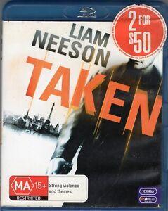 TAKEN starring Liam Neeson (Blu-ray, 2009)