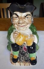 """Vintage Toby Jug Made in England Stamped Ceramic Hearty Good Fellow 1960s 7"""" H"""