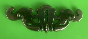 """LARGE 7""""  Antique Hardware Colonial Chippendale Drawer Pull Brass 4 3/4"""" Centers"""