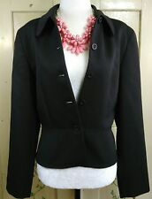J Crew Womens Size 8 Wool Single Breasted 5 Button Brown Blazer Suit Jacket