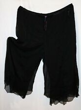 Curvaceous Brand Black Wide Leg Chiffon Over Dress Pants Size XXL BNWT #SA56