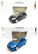 Lot de 2 Peugeot 207 3 Portes (Noir, Bleu) 1/64 NOREV Neuf !!