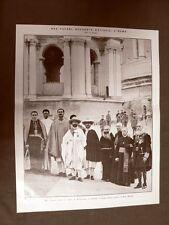 Ras Tafari d'Etiopia a Roma nel 1924 Dopo la visita al Papa pronto per S.Pietro