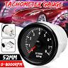 "2"" 52mm 0-8000RPM Rev Counter Tachometer Gauge for Petrol Motor Engine Car"