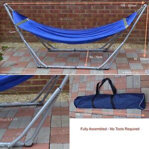 High-Grade FOLDABLE Hammock STAINLESS STEEL Folding Frame Weight Capacity 180KG