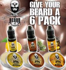 Beard 6 Pack Grooming Set, 3 x Beard Taming Balm & 3 x Beard Oils all natural
