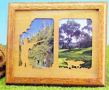 Wood Photo Frame With Glass Decorative Die-Cut Sportsman Hunter Frame Sz 8x10
