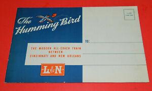 L & N Louisville & Nashville Railroad The Humming Bird Brochure 11-46