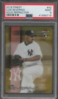 2016 Topps Finest Gold Refractor Luis Severino PSA 9 Mint Rookie Card #/50