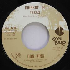 Country 45 Don King - Drinkin' In Texas / Music Is My Woman On Con Brio