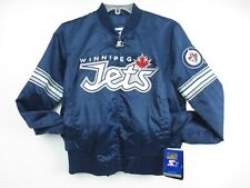 Women's Winnipeg Jets Navy Blue Starter Blitz Satin Jacket $119 Medium