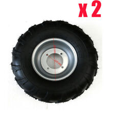 2pcs 18x9.5-8 Tyre Tire and Rim for Mower Trolley Trailer ATV Go kart Buggy