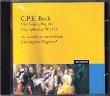 Christopher Hogwood Carl Philipp Emanuel Bach 6 Symphony wq.182 1-6 CD SYMPHONIES