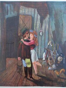 Raymond PEYNET : Le Chien - GRAVURE humoristique couleur et signée, 1943
