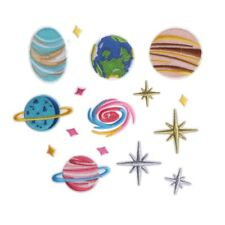 16pcs Planet Embroidered Iron on Patch Clothing Stripe Clothes Universe Applique
