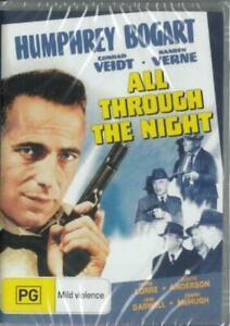 All Through the Night DVD Humphrey Bogart Brand New and Sealed Australia