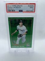 2013 Topps Update Emerald Christian Yelich ROOKIE RC #US290 PSA 9 MINT