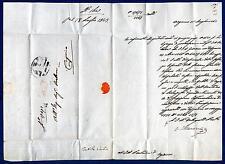 ITALIA - LOMBARDO VENETO - 1843 - Prefilatelica da Bergamo a Caprino