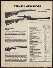 1988 PERUGINI-VISINI RIFLE AD Boxlock~Over/Under & Sidelock Super Express