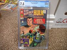 Tales to Astonish 74 cgc 7.5 Submariner and the Incredible Hulk Marvel 1965 ow/w
