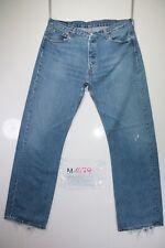 Levi's 501 Boyfriend (Cod. M1479) tg50 W36 L32 jeans usato Vita Alta vintage