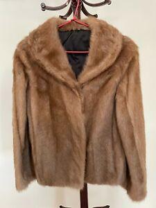 VINTAGE real fur marmot mink jacket womens
