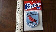 North Carolina Cardinal Travel Souvenir Patch - Brand New - Free Shipping!
