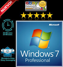 Microsoft Windows 7 Pro professional 32 64 bit  ORIGINAL full product key