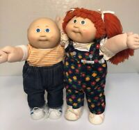 Vintage Cabbage Patch Kids Doll Girl And Boy  Coleco Xaviar Roberts 1982 Lot 2
