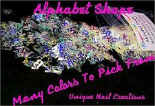 ALPHABET Shape Glitter~You Choose Colors~Nail Art•Face•Festival•Crafts