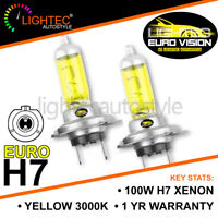 LIGHTEC H7 GOLDEN EURO YELLOW XENON HALOGEN BULBS 12V 100W UPGRADE 3000K SKODA