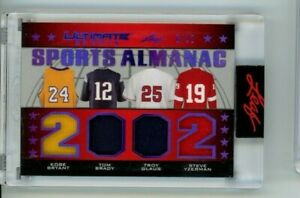 2021 Leaf Ultimate Sports Almanac Kobe Bryant Tom Brady Yzerman Game Used /12