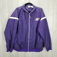 Vintage Red Oak Tigers Size Large Unisex Jacket Zip Up Purple Windbreaker Nylon