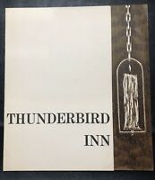 Vintage Thunderbird Inn Luncheon Menu 1960's Plymouth Michigan