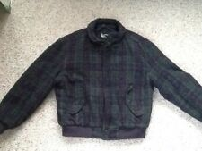 MEMBERS ONLY WOOL PLAID BOMBER JACKET 44