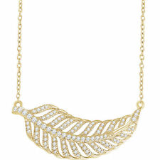 Diamante Hoja 40,6 -45 , 7cm Collar en 14k ORO AMARILLO ( 3/8ct. TW