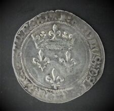 CHARLES VII (1422/1461) - GROS DE ROI - 1er EMISSION (26 MAI 1447) - LYON