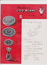 PUBLICITE ANCIENNE - LOT DE 6 documents BONBONS COQ BLANC-(lettre+PHOTO+4 PUB)