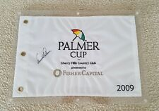 ARNOLD PALMER signed Palmer Cup Pin Flag Cherry Hills Country Club lucite holder