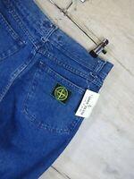 vtg 90s Deadstock New Stone Island green edge denim Jeans Trousers RARE  RefA24