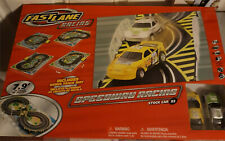 Fast Lane Speedway Racing Set Stock Cars and Track With Mat