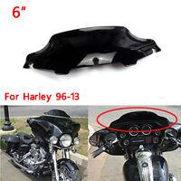 """6"""" Black Wave Windshield For Harley Touring FLHT FLHTC FLHX 96-13 Street Glide"""